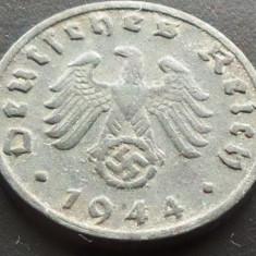 Moneda istorica 1 REICHPFENNIG - GERMANIA NAZISTA, anul 1944 B *cod 1017 - ZINC, Europa