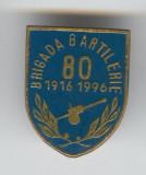 BRIGADA 80 ARTILERIE 1916-1996 Insigna MILITARA