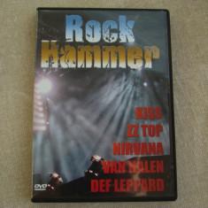 ROCK HAMMER - Kiss ZZ Top Nirvana Van Halen Def Leppard - D V D Original ca NOU, DVD