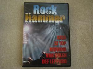 ROCK HAMMER - Kiss ZZ Top Nirvana Van Halen Def Leppard - D V D Original ca NOU