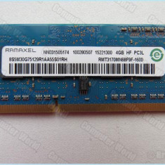 Ram laptop Ramaxel 4GB PC3-12800 DDR3-1600 1.35V RMT3170MN68F9F-1600, 4 GB, 1600 mhz
