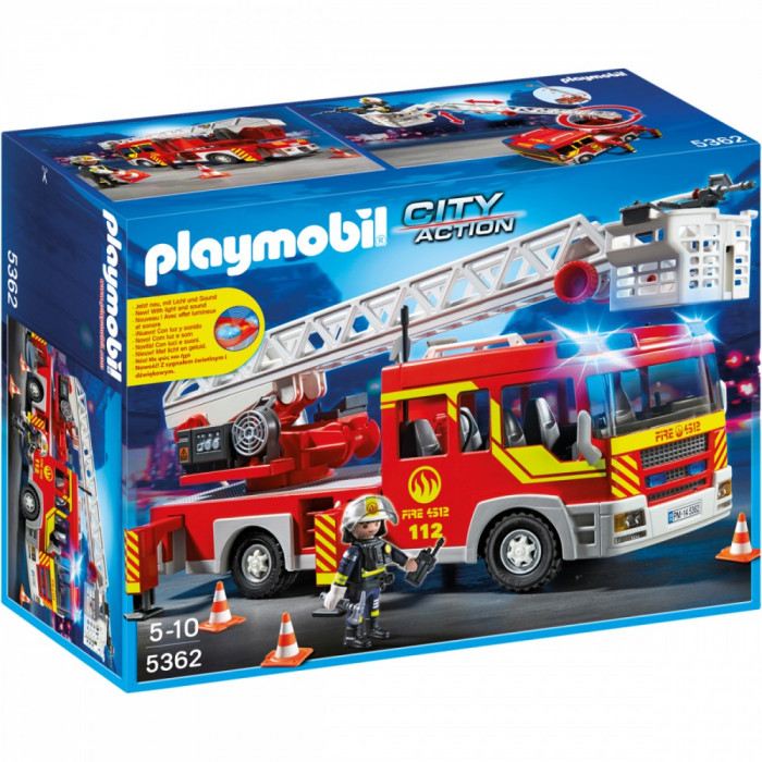 Joc PLAYMOBIL Ladder Unit with Lights and Sound foto mare