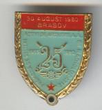 25 Ani Ofiteri Activi Artilerie AA si Radiolocatie 1955-1980, Insigna militara