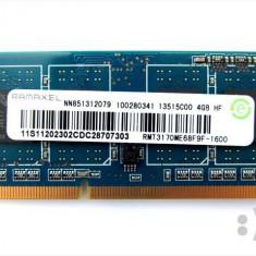 Ram laptop Ramaxel 4GB PC3-12800 DDR3-1600 1.35V RMT3170ME68F9F-1600 - Memorie RAM laptop Ramaxel, 1600 mhz