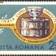 ROMANIA - TENIS DE CAMP - Finala Cupei Davis 1972, timbru nestampilat AC139 - Timbre Romania