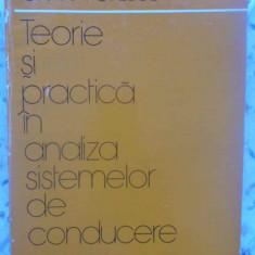 Teorie Si Practica In Analiza Sistemelor De Conducere Vol.1 E - Ion A. Popescu, 409512 - Carte Marketing