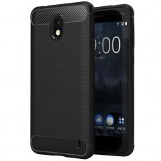 Husa Carbon pentru Nokia 2, Negru - Husa Telefon