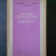 D.D. DRASOVEANU - ANALIZE GRAMATICALE SI STILISTICE