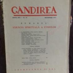 REVISTA GANDIREA NR.10/DECEMBRIE 1937