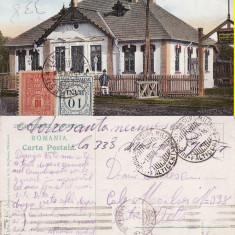 Malini(Falticeni, Suceava, Bucovina)-Primaria-cenzura, rara - Carte Postala Bucovina 1904-1918, Circulata, Printata