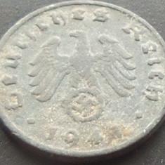 Moneda istorica 1 REICHPFENNIG - GERMANIA NAZISTA, anul 194? A *cod 1358 - ZINC, Europa, An: 1941