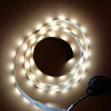 Banda led ornamentala alba cu alimentare 5V la usb 1m lungime