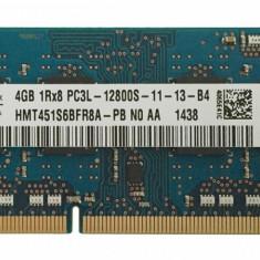 Memorie ram laptop  Hynix 4GB PC3L-12800 DDR3-1600MHz HMT451S6BFR8A-PBN0, 4 GB, 1600 mhz