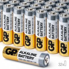 Baterii AA Alcaline GP, R6, High-Performance, 32 buc