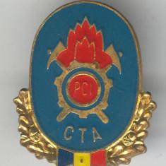 CTA - POMPIERI Paza Contra Incendiilor - Insigna Pionieri - MILITARA