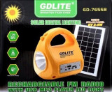 Kit Solar Lanterna/Lampa cu Radio MP3 incarcator USB Gdlite GD-7655B