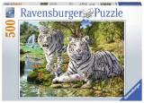 Puzzle Tigri Albi, 500 piese - VV25181, Ravensburger
