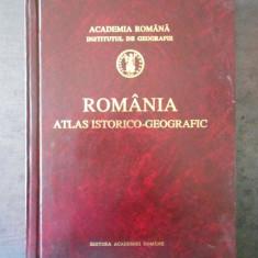 ROMANIA, ATLAS ISTORICO - GEOGRAFIC  (1996, format mare)