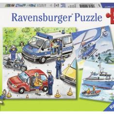 Puzzle politie, 3x49 piese - VV25352, Ravensburger