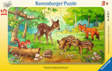 Puzzle animale in padure, 15 piese - VV25304, Ravensburger
