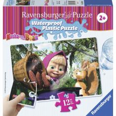 PUZZLE MASHA SI URSUL, 12 PIESE REZISTENTE LA APA - VV25478, Ravensburger
