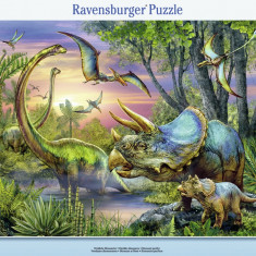 Puzzle dinozauri in zori, 45 piese - VV25321, Ravensburger