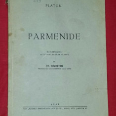 Parmenide  / Platon ; in romaneste de St. Bezdechi 1943