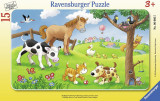 Puzzle animale prieteni, 15 piese - VV25298, Ravensburger