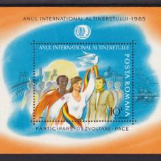 ROMANIA 1985 LP 1122  ANUL INTERNATIONAL AL TINERETULUI  COLITA  MNH