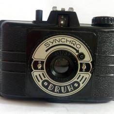 Aparat foto vintage SYNCRO, DRUH, Bilar, 1:8/65, WZFO Polonia anii '50