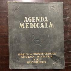 AGENDA MEDICALA EDITATA DE FABRICA DE PRODUSE CHIMICE GEDEON RICHTER ,ANII 30