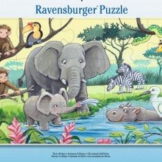 Puzzle animale din africa, 15 piese - VV25301, Ravensburger