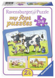 Puzzle animale prieteni, 3x6 piese - VV25293, Ravensburger
