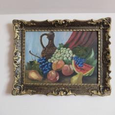 Natură statică - pictură în ulei pe carton gros, Natura statica, Impresionism
