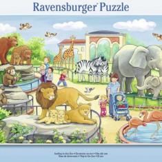 Puzzle calatorie la zoo, 15 piese - VV25300, Ravensburger