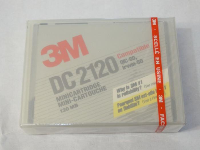 Data tape 3M DC2120 Minicartridge 120 Mb - sigilate - noi