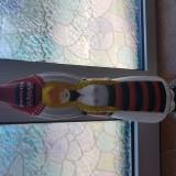 Sticla Miorita de colectie restaorata si pictata manual contine tuica de prune