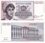 IUGOSLAVIA 500.000.000 dinara 1993 UNC!!!