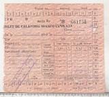 Bnk  div CFR - bilet de calatorie bianco cu plata
