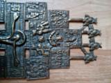 CRUCE , CRUCIFIX DIN ALAMĂ - ÎN STILUL CREȘTINISMULUI ORTODOX PRAVOSLAVNIC