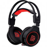 Casti gaming ThermalTake Tt eSports Cronos AD Negru rosu, Casti cu microfon, USB