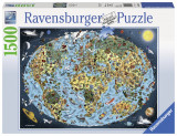 Puzzle Lumea animata, 1500 piese - VV25240, Ravensburger