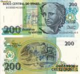 BRAZILIA 200 cruzeiros ND (1989) UNC!!!