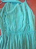Rochie vaporoasa cu elastic in talie Pull&Bear, S/M, Turcoaz, Pull & Bear