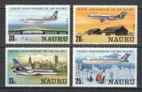 NAURU 1980 - AVIATIE - SERIE DE 4 TIMBRE - NESTAMPILATA - MNH / aviatie82