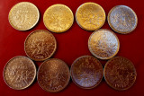 Lot  monede   5   franci   1970-1993, Europa