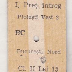 bnk  div CFR - tren - bilet  Ploiesti 1981
