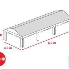 Prelata acoperis cort 4x6 m PVC 500 gr/mp