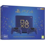 Consola Sony Playstation 4 Slim 500Gb Days Of Play Limited Edition Blue Gold + Controller Dualshock 4 V2 Dop