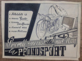 Reclama Pronosport// tus pe hartie, macheta originala